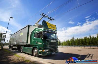 В Швеции проходят испытания грузовики-троллейбусы и грузовики-электрички