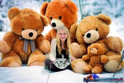 Продажа мягких медведей тедди
